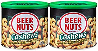 product image for BEER NUTS Cashews - 12oz Resealable Can (Pack of 2), Low Sodium, Gluten Free Cashews