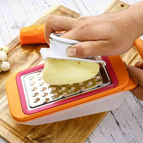 Finger Protector, Plastic Multi-Function Detachable Anti-Cutting Potato Radish Grater Finger Protector (White) ()