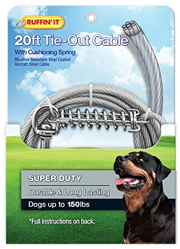 RUFFIN' IT 20-Feet 4200-Pound Super Tie Out with Cushioning Spring