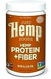Just Hemp Foods Hemp Protein Powder Plus Fiber, 16oz; Non-GMO Verified with 13g of Fiber per Serving