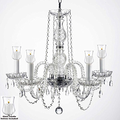 Outdoor chandeliers amazon crystal chandelier lighting chandeliers w candle votives h25 w24 for indoor outdoor use great for outdoor events hang from trees gazebo pergola aloadofball Choice Image