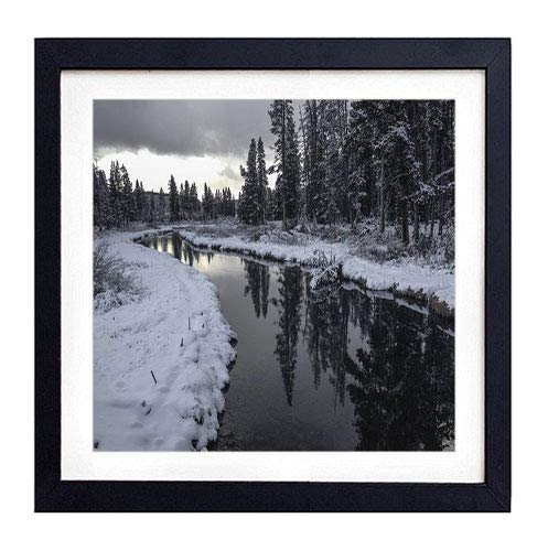 GLITZFAS PRINTS Framed Wall Art- Yellowstone National Park Wyoming USA- Art Print Black Wood Framed Wall Art Picture for Home Decoration - 14