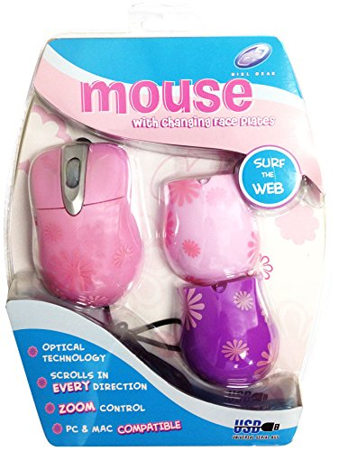FASHION PINK MOUSE WITH CHANGING FACE PLATES