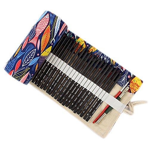 Estuche de lápices de colores con estampado de búhos