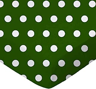 product image for SheetWorld Fitted Bassinet Sheet - Polka Dots Hunter Green - Made In USA