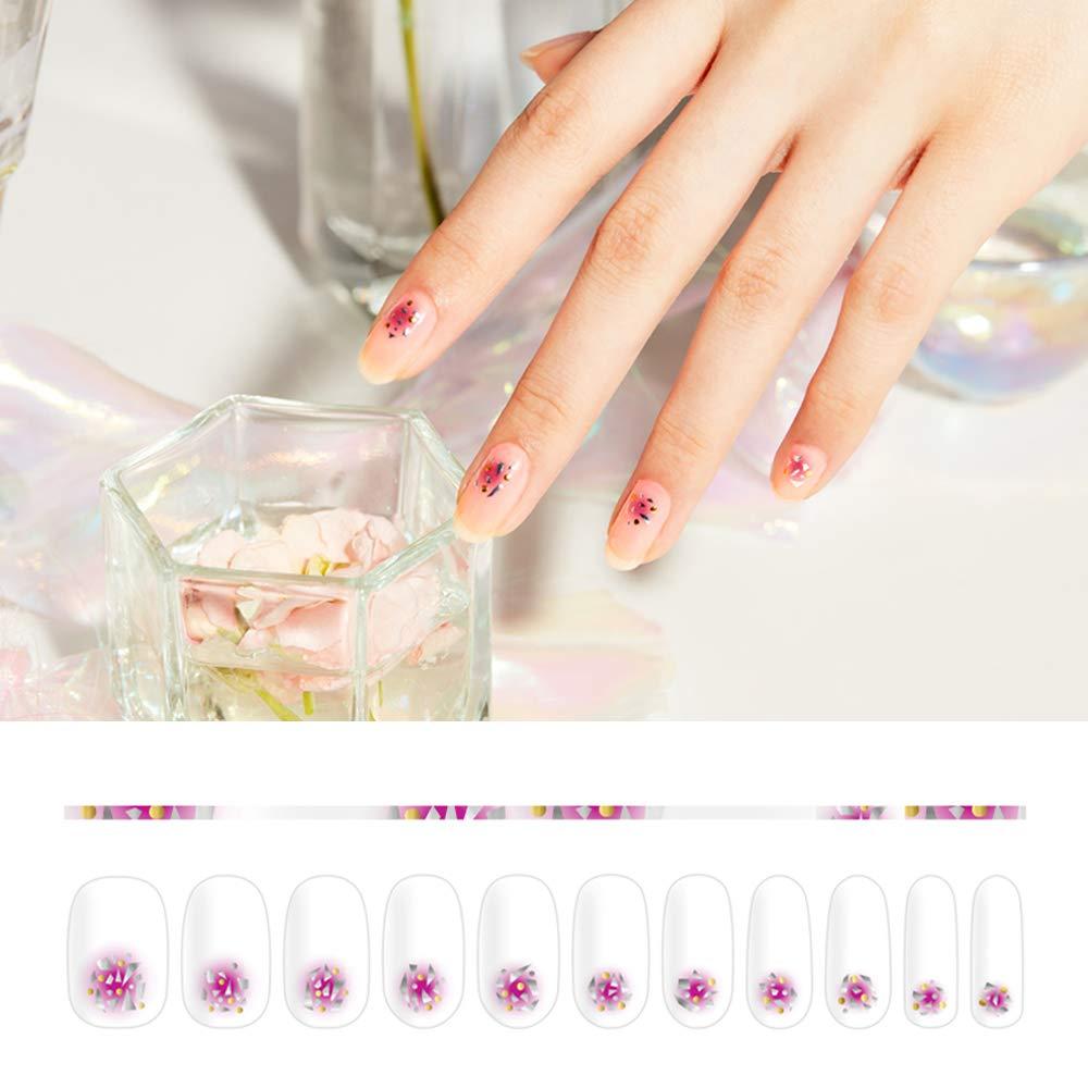 Amazon.com: [FEELIN] Nail Design Stickers 9 Designs (02 PURPLE SPLINTER):  Beauty - Amazon.com: [FEELIN] Nail Design Stickers 9 Designs (02 PURPLE