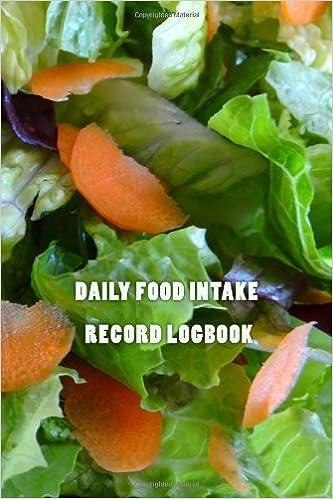 daily food intake record logbook jason wilkey 9781491271773