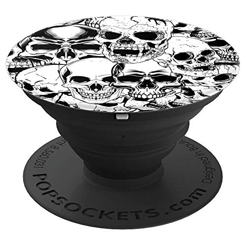 PopSockets Cell Phone Stands - Smartphones & Tablets - Brave New Look Skulls Piled High - PopSockets Grip and Stand for Phones and Tablets