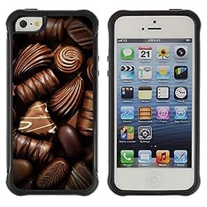 Suave TPU GEL Carcasa Funda Silicona Blando Estuche Caso de protección (para) Apple Iphone 5 / 5S / CECELL Phone case / / Box Chocolate Candy Art Dark Sweet /