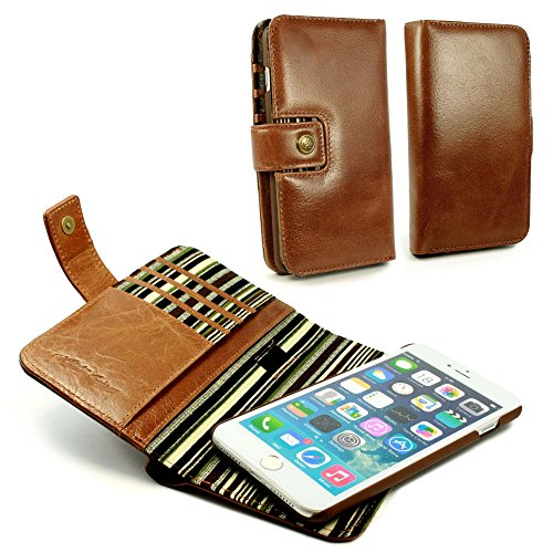 Vintage Purses Ebay - Alston Craig J3_67 Personalised Gentlemen's Traditional Vintage Genuine Leather [with RFID Blocking] Magnetic Shell Folio Wallet Case Cover With Bill Fold For iPhone 7 Plus - Brown