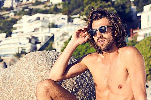 Femmes Cheapass 025 Ca Noir Sunglasses Rétro Hommes Miroitant Clubmaster TzIHzr