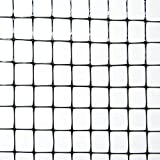 Industrial Netting OV1581-168x100 Heavy Duty Polypropylene Bird Garden Net, 1/2'' Mesh, 100' Length x 14' Width, Black
