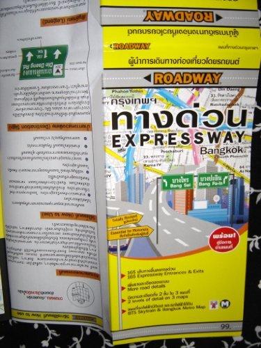 Bangkok Expressway Map / Bilingual Thai – English Road Map / 165 Expressway Entrances & Exits / More Road Details / 2 Levels of Detail On 3 Maps / Bts Skytrain & Bangkok Metro Map / Index of Places 165 Exits / Expressway On/Off Ramps / Sign Names ()