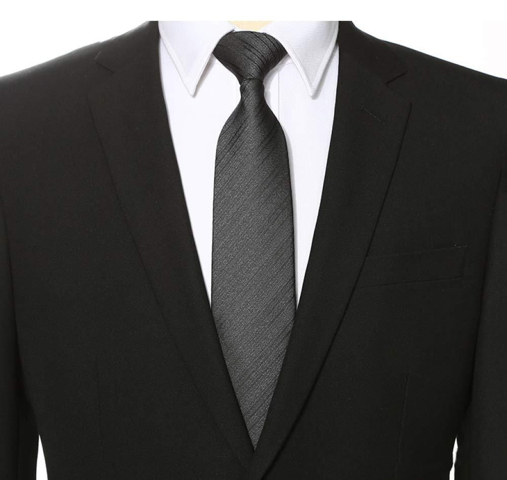 Hjyi Corbata de Vestir para Hombre, Corbata a Rayas Negra Simple ...