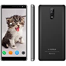 3G Unlocked Smart Phone,5.5 Inch 16GB ROM V Mobile N8-N 8MP&5MP Camera Android 7.0 Dual Sim Quad-core 2800mAh Battery Cheap and Fine Supports WI-FI Bluetooh GPS for at&T T-Mobile(Black)