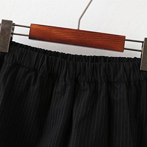 Pantaloncini di grandi corti Pantaloncini con elastici donna Oudan ricamo asimmetrici da Nero dimensioni wHgqx0