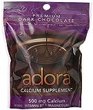 Adora Gluten Free Dark Chocolate 500mg Calcium Supplement - 30 CT