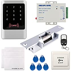 UHPPOTE Full Complete Waterproof 125KHz RFID EM-ID Card Single Door Access Control Kit