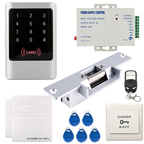 UHPPOTE Full Complete Waterproof 125KHz RFID EM-ID Card Single Door Access Control Kit