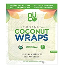 Our Certified Organic NUCO Coconut Wraps are an All-Natural Alternative to Bread and Tortillas made from 3 simple ingredients: organic coconut meat, organic coconut water, and organic extra virgin coconut oil. These delicious, low-carb (4g ne...