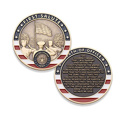 Army First Salute Challenge Coin - United States Army Challenge Coin - Amazing US Army Military Coin - Designed by Military Veterans!