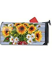 Magnet Works Bandana Sunflowers Magnetic Mailbox Wrap Cover