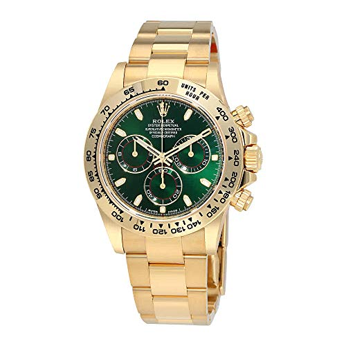 f3e57603ab1 Rolex Cosmograph Daytona Green Dial 18K Yellow Gold Oyster Mens Watch  116508GRSO