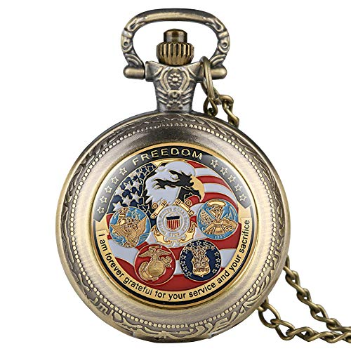 USA Army Dept Pocket Watch, Military Pendant for Men Boys, Gifts for Men Women (Usa Army Watch)