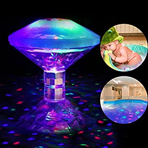 LED Floating Light for Pool, Pond, Hot Tub, Fountain, Baby Bathtub Light - Colorful, Waterproof, Safe for Kids