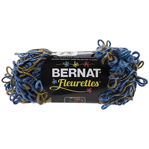 - Bernat Fleurettes Yarn. Sapphire Blue