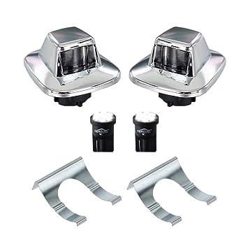 Amazon Com Hercoo Led License Plate Light Lamp Lens White Bulbs