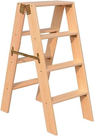 DY Taburete de madera maciza con escalones Escalera plegable de 4 pasos Escalera de plataforma multifunción Escalera ascendente para uso doméstico Escalera de la etapa engrosada larga Escaleras de mad: Amazon.es: Hogar
