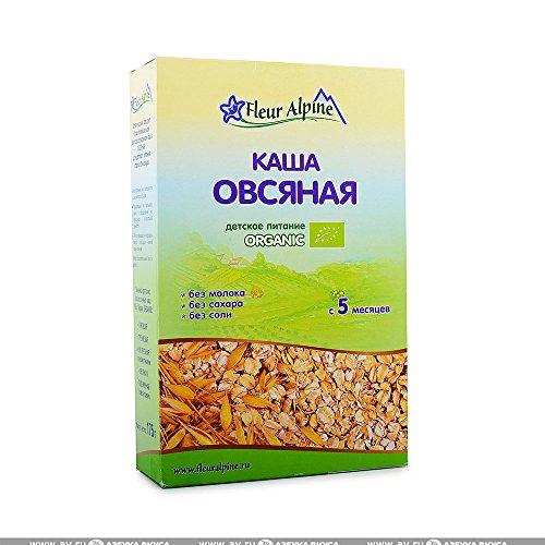 Fleur Alpine Organic Gluten Free Baby Cereal, 6.17 oz/ 175 g (Oatmeal No Milk)