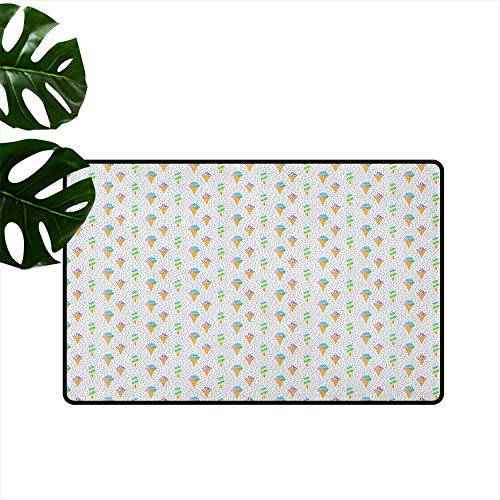 Ice Cream Latex Backing Non Slip Door Mat Summer Ice for sale  Delivered anywhere in USA