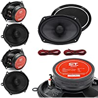 CT Sounds Meso 5 X 7 Inch 2-Way Silk Dome Coaxial Car Speakers - Set of 4
