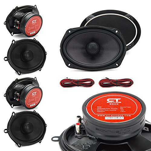 CT Sounds Meso 5 X 7 Inch 2-Way Silk Dome Coaxial Car Speakers - Set of 2 Pairs