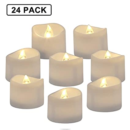 buy online 2aca4 2d397 Homemory Battery Operated LED Tea Lights, Pack of 24, Flameless Votive  Tealights with Warm White Flickering Bulb Light, Small Electric Fake Tea  Candle ...