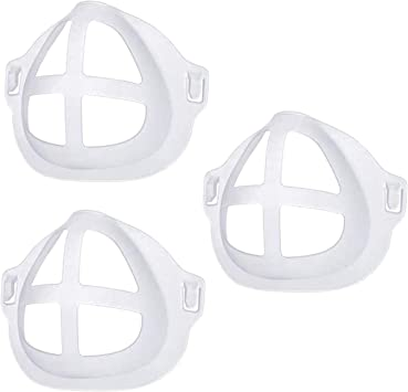 3D Bracket for Comfortable Wearing Mouth Support Internal Support Holder Frame Nose Breathing Smoothly Silicone Inner Support Frame 10PCS