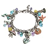 Yoshine(tm) Gold or Sterling Silver Plated Pendant Series Charms Bracelet for Kids Tween Girls or Younger Jewelry