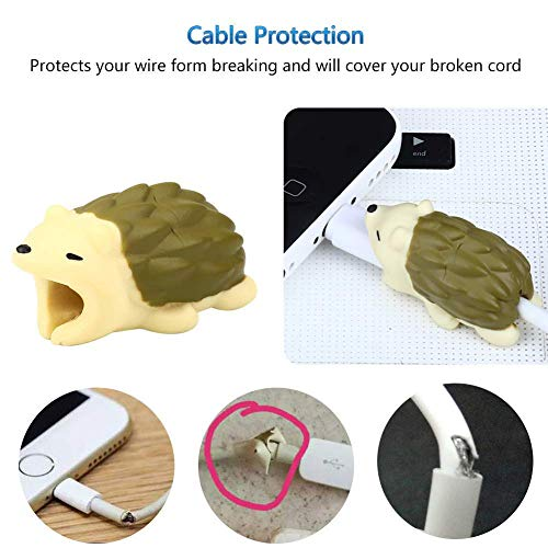 EnjoCho Animal Cable Bite Protector for Iphone Cable Winder Panda Phone Holder Accessory Organizer Dog Cat Doll Toys (4PCS, J-2) by EnjoCho (Image #2)