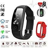 Fitness Tracker Heart Rate Smart Watch Sleep Monitor Calorie Counter Weather Mode Multi Sports IP67 Water Resistant Activity Tracker for iPhone & Android Phone
