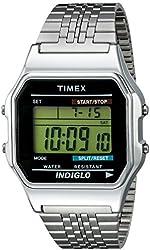 Timex Unisex TW2P48300AB Originals Digital Display Quartz Silver Watch