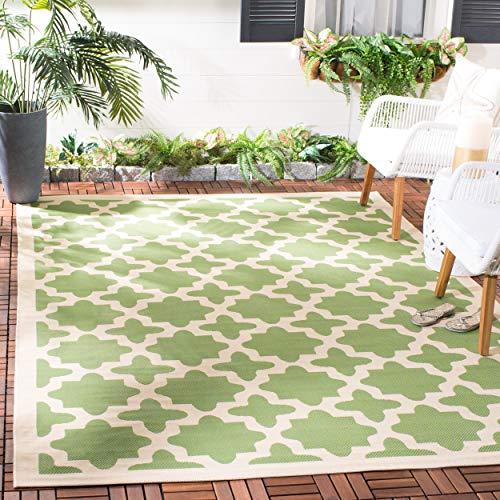 (Safavieh Courtyard Collection CY6913-244 Green and Beige Indoor/ Outdoor Area Rug (5'3