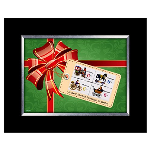 American Coin Treasures Christmas Toy United States Framed Stamp Collection