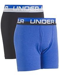 Under Armour Boys Big Boys 2 Pack Solid Cotton Boxer Briefs
