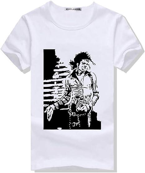 JJZHY Cuello Redondo Michael Jackson Memorial Camisetas algodón Moda Hombre Camiseta: Amazon.es: Deportes y aire libre