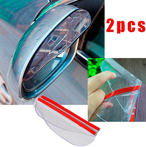 CHAMPLED® 1pair Transparent White Car Rearview Mirror Rain Water Eyebrow Cover Side Shield For TOYOTA LEXUS ACURA NISSAN MITSUBISHI SUBARU MAZDA