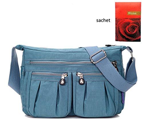 Blue Multi Color Handbag - 6
