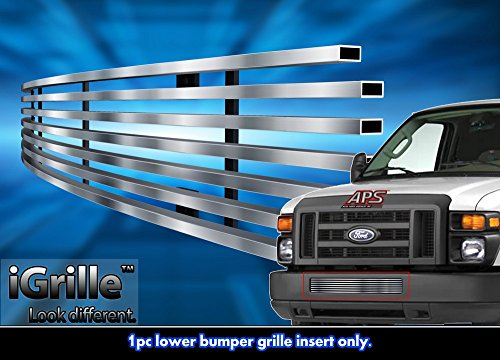 Stainless Steel eGrille Billet Grille Grill For 2008-2013 Ford Econoline Van/E-Series Bumper