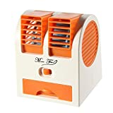 Mini USB Fan Portable Desk Table Fan for Office Home USB Electric Air Conditioning Fan with Adjustable Dual Air Outlets